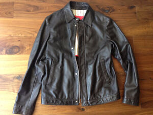 50EU/40US ISAIA BROWN LEATHER BOMBER