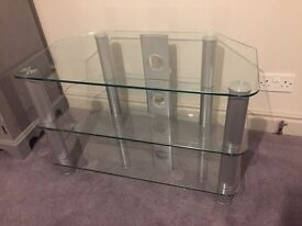 Glass corner TV unit / shelves