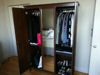 Large Armoire Closet with Mirror