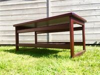 Retro 70s tiled coffee table vintage mid century teak 50s 60s danish