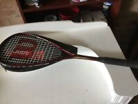 "SQUASH RACKET AND CASE ""WILSON"""
