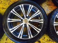"17"" DARE ALLOY WHEELS ASTRA, CORSA, CLIO, MAGANE, CIVIC, MINI SET OF 4"