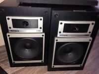 Vintage West German Sony Speakers - Stunning