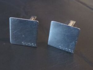 Authentic Gucci - Genuine Silver Cufflinks - Vintage