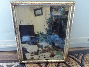 Vintage Christmas Photograph in Frame