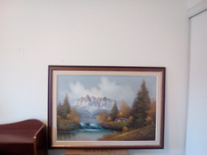Painting of the living room