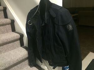 BELSTAFF MOTORCYCLE JACKET WITH INNER LINING AND BODY ARMOUR
