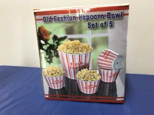 Old Fashioned Popcorn Bowl Set