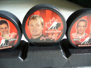 Team Canada Olympic Hockey Puck Collectible Set