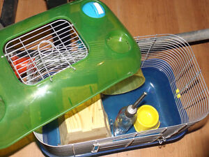 3 Hamster cages and 1 bunny cages