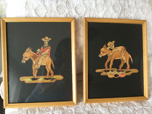 Hand made pictures in frames