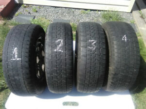 FOUR TIRES (4) ON RINGS /  WINTER 215/65R16 --ARTIC CLAW /WINTER