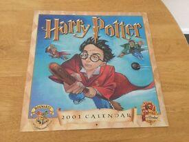 New & Rare Harry Potter 2001 Calendar