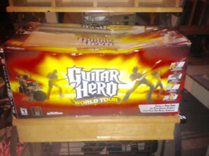 PS3 guitar hero,complete band set