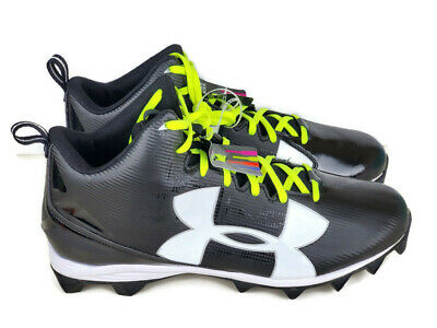 Under Armour Mens Crusher RM Football Cleats Wide 1286600-001 Black Mens Size 16 Under Armour Crusher