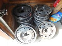 set of 4  14 inch  ford & GM rims