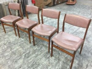 Mid century wooden framed dining chairs $149 per chair