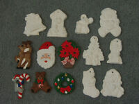 14 Painted/Unpainted Christmas Ornaments