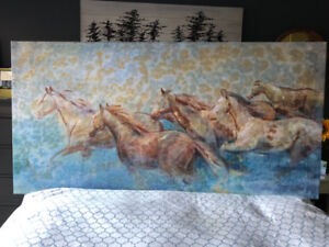"""Horse Painting - 70"""" x 35"""""""