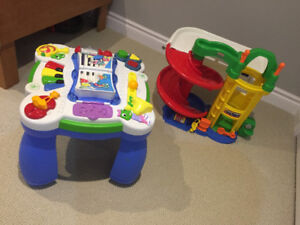 FIsher Price garage & Activity table $40 both - good condition
