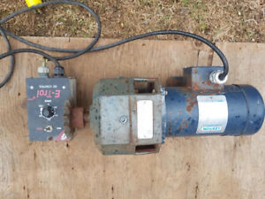 1/2 HP 667 ft/ lbs AC to DC Motor with Built in Gear Reducer