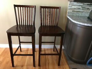 Two kitchen island/bar stools for sale