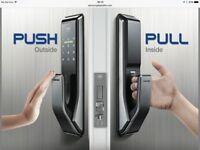 SamsungSAMSUNG SHS-710 digital door lock keyless touchpad security EZON + 2pcs of Sticky Key Tags