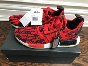 Brand new Europe exclusive very limited NMD r1 red black white.