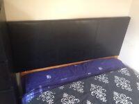 Double bed inc headboard/mattress