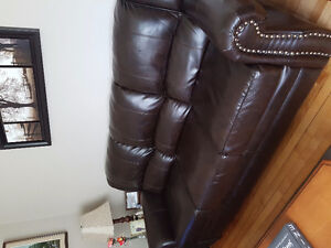 Faux leather couch