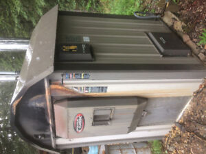 Outdoor wood boiler , Central boiler with gas backup