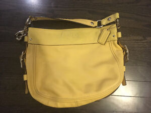 Yellow leather Coach purse