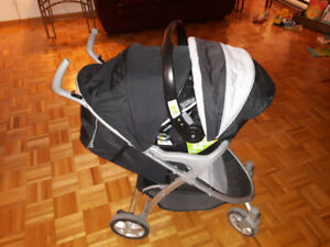 Eddie Bauer stroller and car seat combo alpine 3 travel system