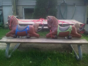 2 antique display horses 60.00 each or both for 100.00