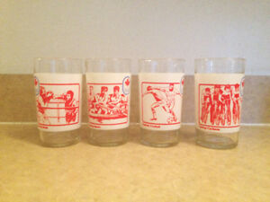 4 verres - Olympiques 1976 Montreal Olympics - 4 glasses