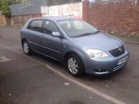 2004 TOYOTA COROLLA/ FULL MOT/ MINT CONDITION/ DRIVES SPOT ON/ 85k