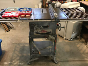 Delta Cast Iron Table Saw with Extension Arms