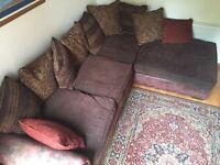 Sofa for sale left hand corner group