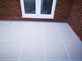 Bianco cream porcelain paving slabs 600x600mm