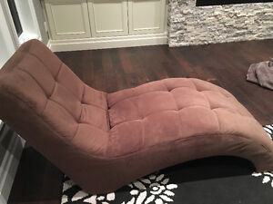 Velvet Microsuede Curved Chaise