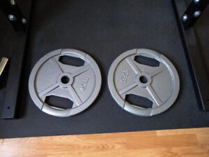 2 x 45lb Olympic Weight Plates