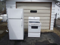 Fridge and Stove! Pickup only