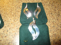 Silver Earring and matching Necklace