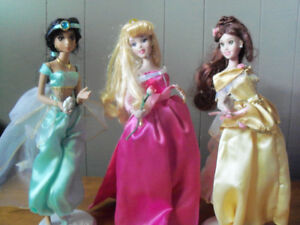 "DISNEY PRINCESS 14"" BRASS KEY KEEPSAKE  PORCELAIN DOLLS"