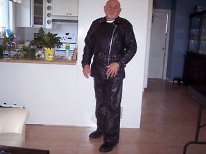 Leather bike suit