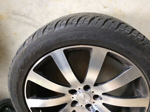 selling R20 pretty  new all season 4 tires with allow chrome rim