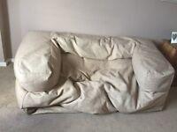Double bean bag sofa