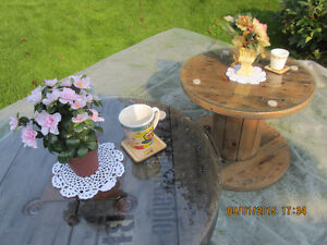 For Sale: Beautiful varnished wood cable spool coffee tables Belleville Belleville Area image 2