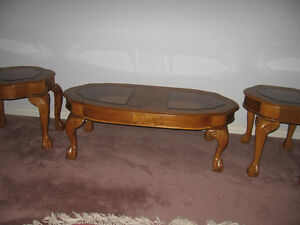 Oak Coffee & End Tables $300. for set