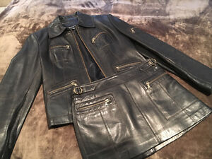Guess - Leather Jacket and Mini Skirt (women)